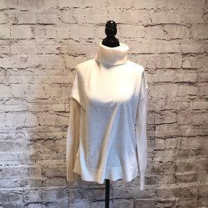 Halogen cashmere turtleneck sweater cream